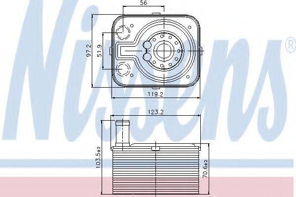 NISSENS 90655 масляный радиатор, двигательное масло