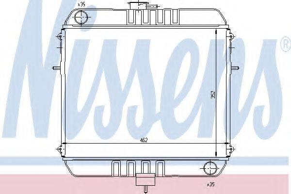 NISSENS 63110 Радиатор, охлаждение двигателя
