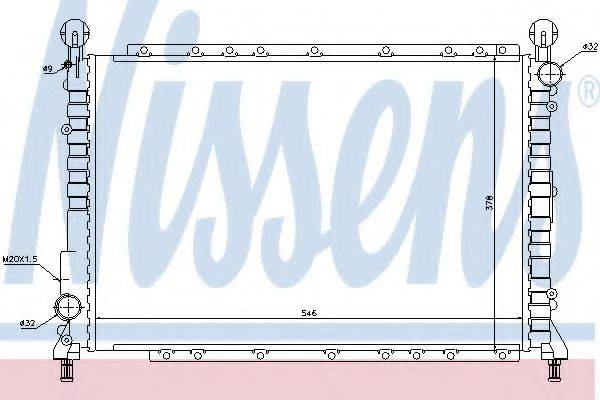 NISSENS 60034 Радиатор, охлаждение двигателя