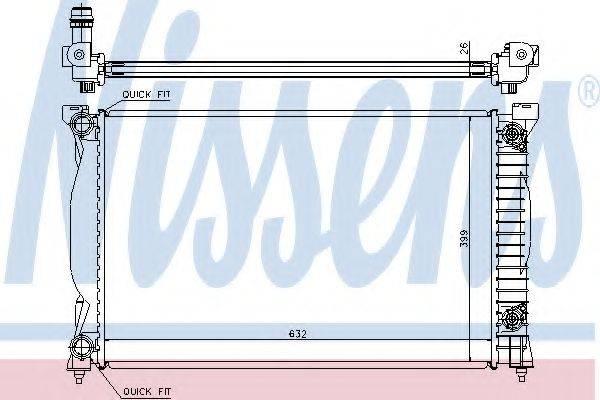 NISSENS 60305A Радиатор, охлаждение двигателя