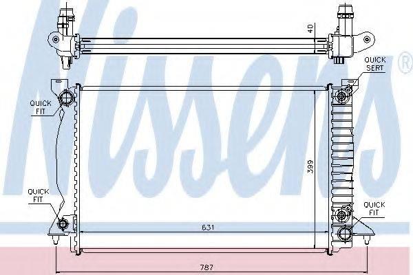 NISSENS 60314A Радиатор, охлаждение двигателя