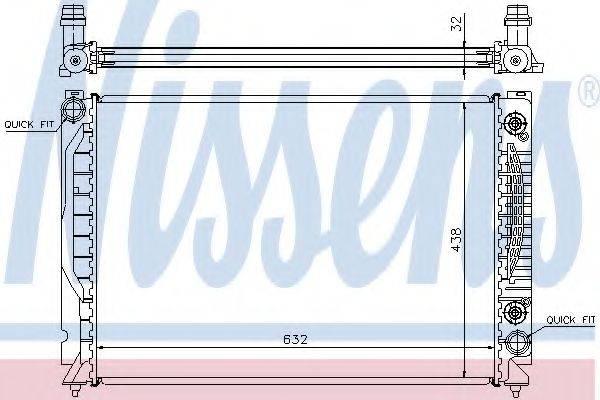 NISSENS 60316 Радиатор, охлаждение двигателя