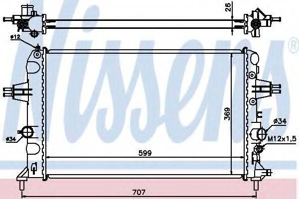 NISSENS 630704 Радиатор, охлаждение двигателя