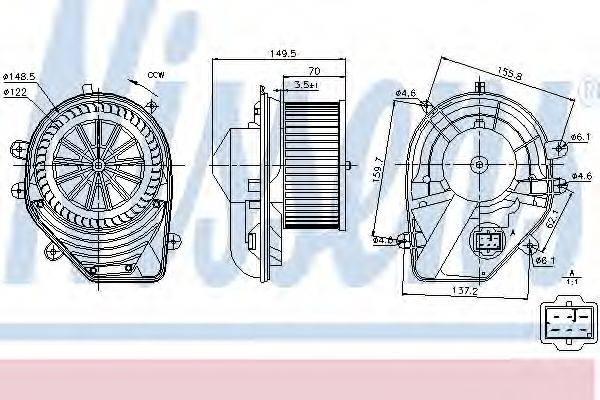 NISSENS 87060 Вентилятор салона