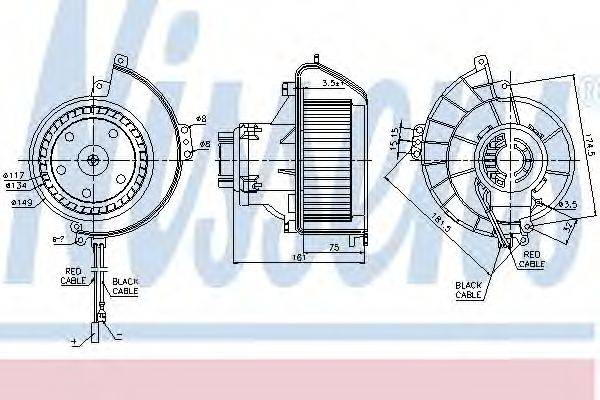 NISSENS 87081 Вентилятор салона