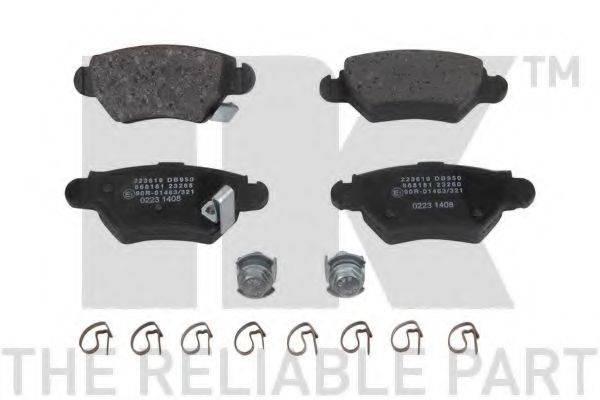 NK 223619 Комплект тормозных колодок, дисковый тормоз