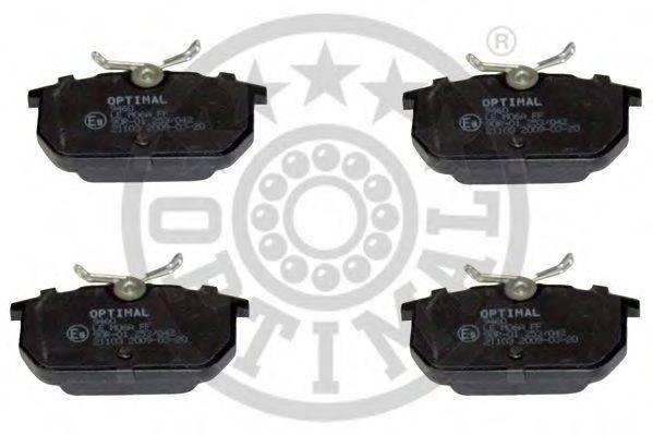 OPTIMAL 9460 Комплект тормозных колодок, дисковый тормоз