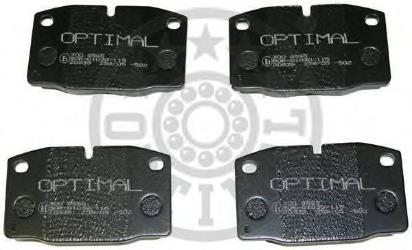 OPTIMAL 9565 Комплект тормозных колодок, дисковый тормоз