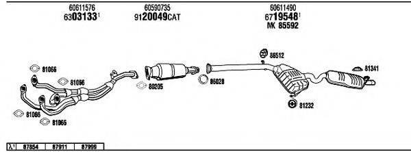 WALKER AR14505 Система выпуска ОГ