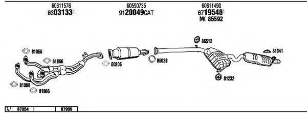 WALKER AR14506 Система выпуска ОГ