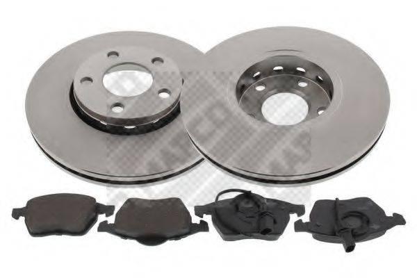 MAPCO 47860 Комплект тормозов, дисковый тормозной механизм