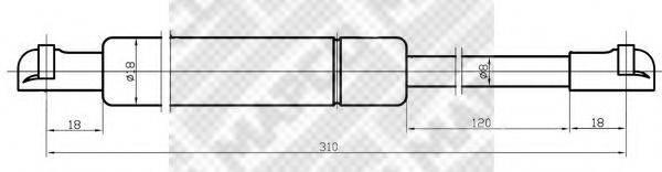 MAPCO 20040 Газовая пружина, крышка багажник