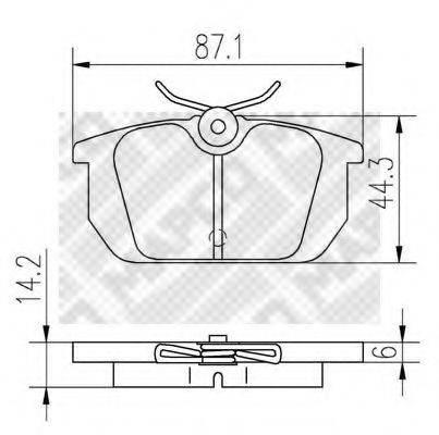MAPCO 6269 Комплект тормозных колодок, дисковый тормоз