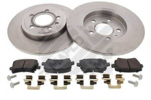 MAPCO 47877 Комплект тормозов, дисковый тормозной механизм
