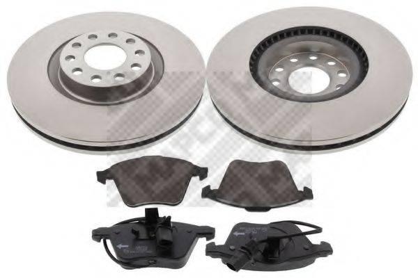 MAPCO 47905 Комплект тормозов, дисковый тормозной механизм