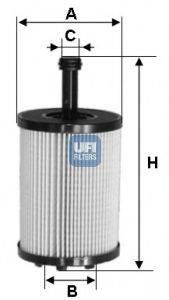 UFI 2502300 Масляный фильтр