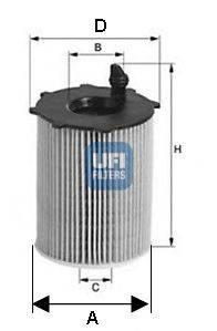 UFI 2506800 Масляный фильтр