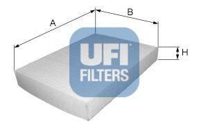 UFI 5303200 Фильтр, воздух во внутренном пространстве