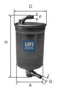 UFI 2407200 Топливный фильтр