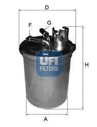 UFI 2445100 Топливный фильтр