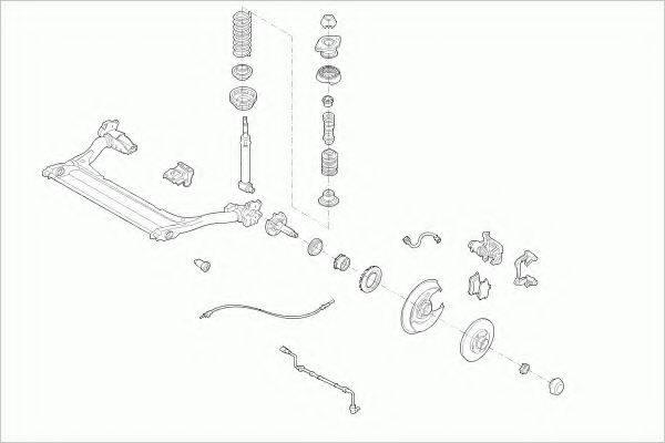 Рулевое управление; Подвеска колеса BOGE AUDI-A4-RB001