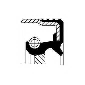 CORTECO 12001540B Уплотняющее кольцо, коленчатый вал