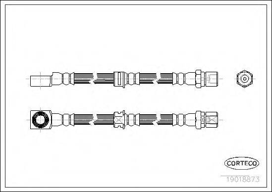 CORTECO 19018873 Тормозной шланг
