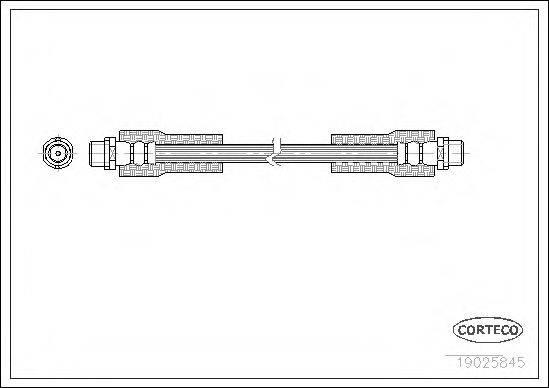 CORTECO 19025845 Тормозной шланг