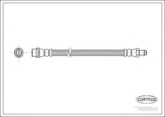 CORTECO 19025903 Тормозной шланг