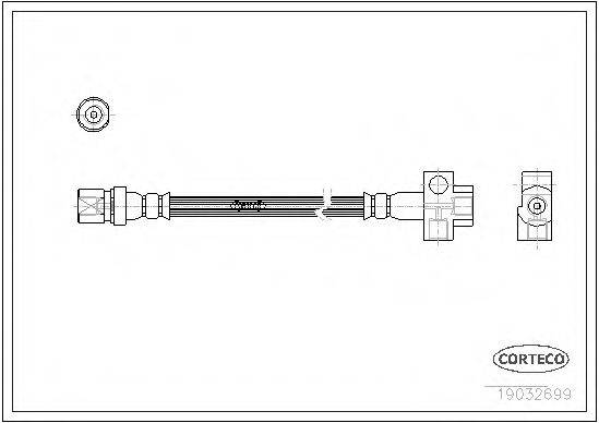 CORTECO 19032699 Тормозной шланг