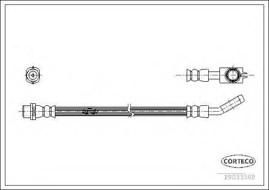 CORTECO 19033598 Тормозной шланг