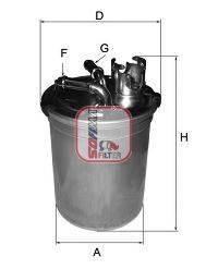 SOFIMA S4451NR Топливный фильтр