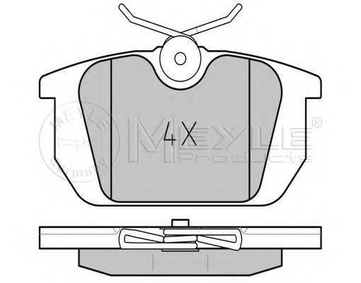 MEYLE 0252110314 Комплект тормозных колодок, дисковый тормоз