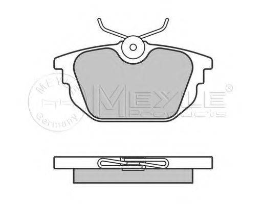 MEYLE 0252317714 Комплект тормозных колодок, дисковый тормоз
