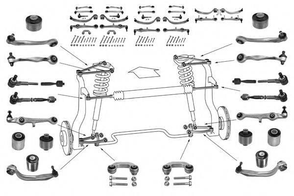 Рулевое управление; Подвеска колеса MEYLE WG0025300