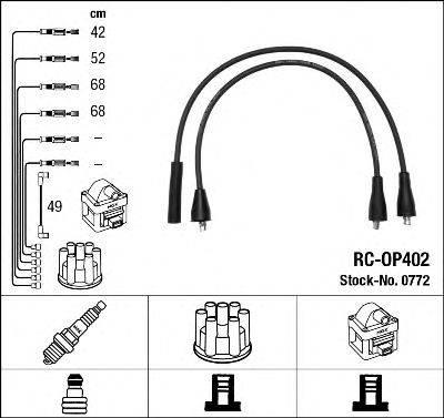NGK 0772 Комплект проводов зажигания
