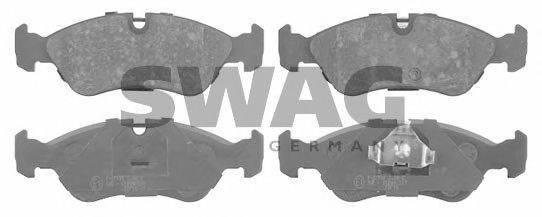 SWAG 40916030 Комплект тормозных колодок, дисковый тормоз