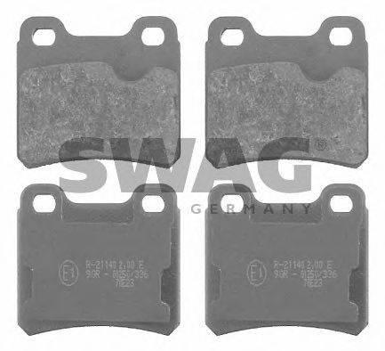 SWAG 40916135 Комплект тормозных колодок, дисковый тормоз