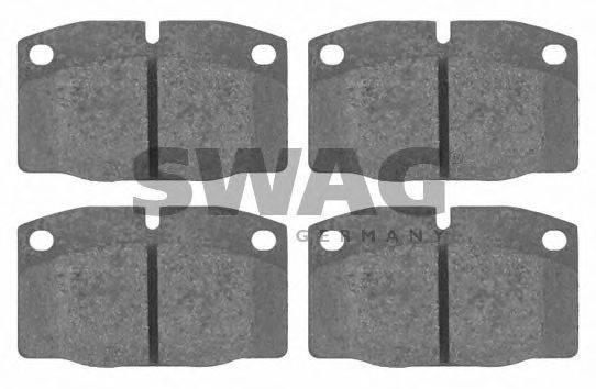 SWAG 40916203 Комплект тормозных колодок, дисковый тормоз