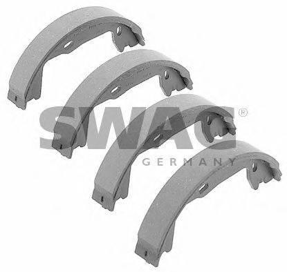 SWAG 40917459 Комплект тормозных колодок, стояночная тормозная система