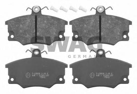 SWAG 70916079 Комплект тормозных колодок, дисковый тормоз