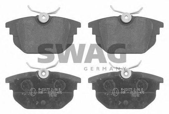 SWAG 70916172 Комплект тормозных колодок, дисковый тормоз