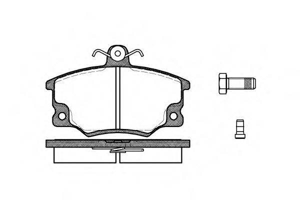 ROADHOUSE 214614 Комплект тормозных колодок, дисковый тормоз