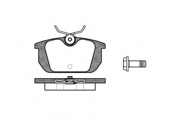 ROADHOUSE 223100 Комплект тормозных колодок, дисковый тормоз