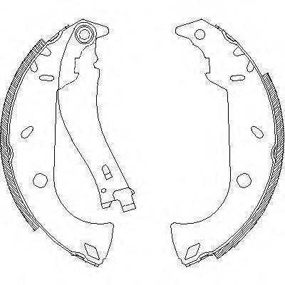 REMSA 418001 Комплект тормозных колодок