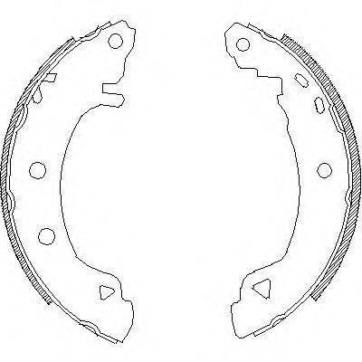 REMSA 418204 Комплект тормозных колодок