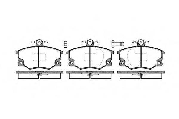 REMSA 014680 Комплект тормозных колодок, дисковый тормоз
