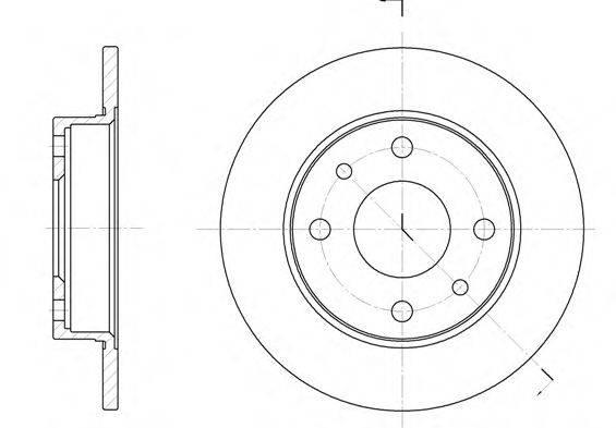 REMSA 611000 Тормозной диск