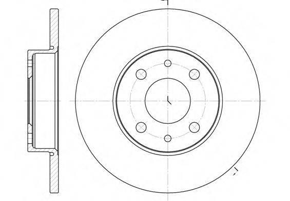 REMSA 611001 Тормозной диск