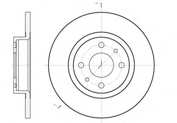 REMSA 619100 Тормозной диск